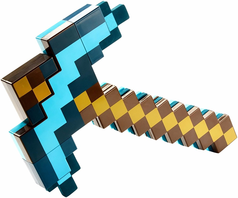 SHANG JI X 2 in 1 Minecraft toy Transforming Diamond Swords and Pick axe Variant weapon with Light and Sound For Kids Gifts серьги коюз топаз серьги т147028239