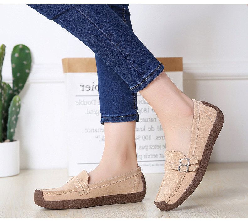 HX 7732-2019 Spring Autumn New Arrival Genuine Leather Women Flats Shoe-11