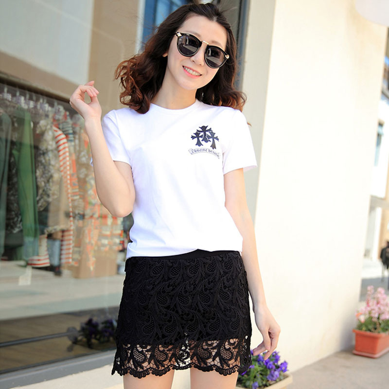 New summer style fashion lace shorts skirts women regular plus size black shorts white 786