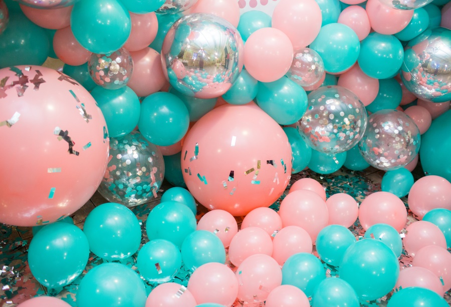 Laeacco Pink Balloons Birthday Backdrops For Photography Party Celebration Decor Child Photo Backgrounds Photocall Studio
