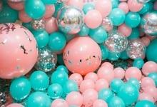 купить Laeacco Pink Balloons Birthday Backdrops For Photography Party Celebration Decor Child Photo Backgrounds Photocall Photo Studio дешево