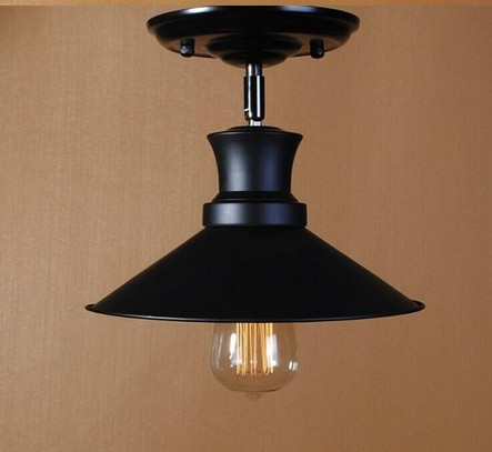 Loft American Minimalist Retro Industrial Ceiling Light Nordic Iron Restaurant Bar Light High quality E27 absorb dome light