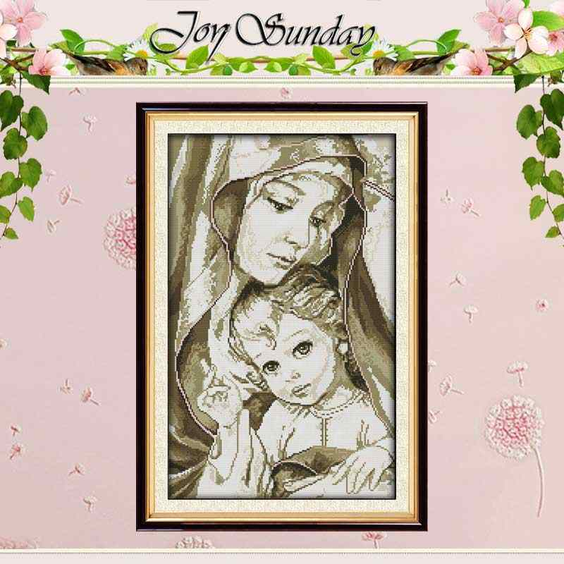 Catholic Mary /& Jesus Madonna Religious Counted Cross Stitch Pattern Needlepoint