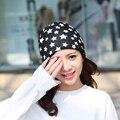 Fashion New Winter Hat Female Star Turban Hat Bib Hot Sale Hip Hop Women High Quality Casual Warm Winter Cap Skullies Beanies