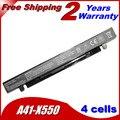 Batería del ordenador portátil para asus a41-x550 a41-x550a a450 a550 f450 jigu F550 F552 K450 K550 P450 P550 R510 X450 X550 2600 MAH 14.8 V