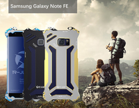 Oxidation Aluminum Metal Case For Samsung Galaxy Note FE Fan Edition Armor Cell Phone Cover Knock