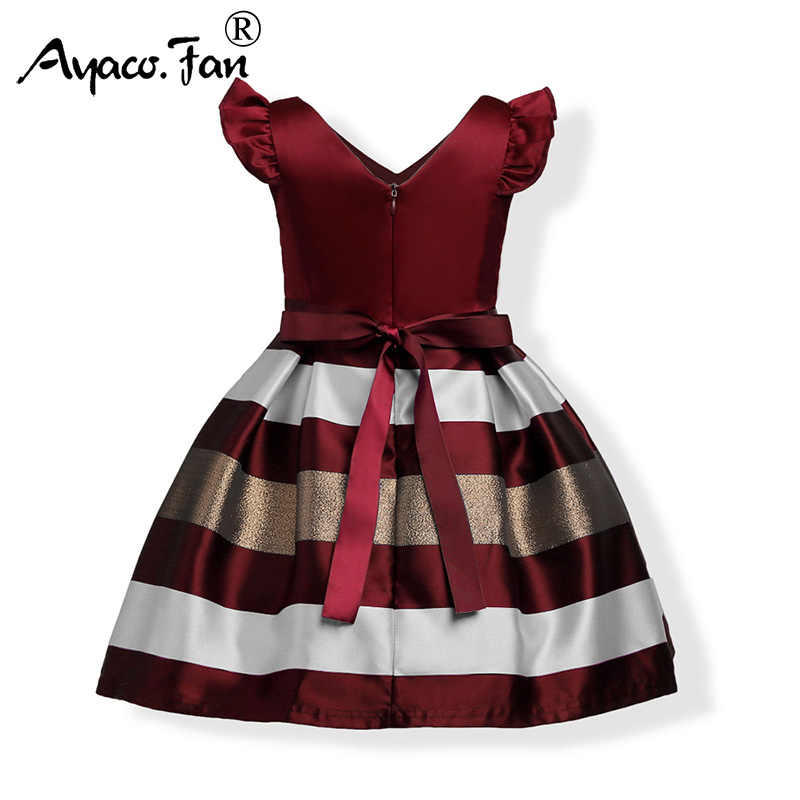 Cute Children Dresses 2019 New Fashion Elegant Bow Princess Dress Kids Christmas Party Dresses Wedding Dress With Belt For Girls