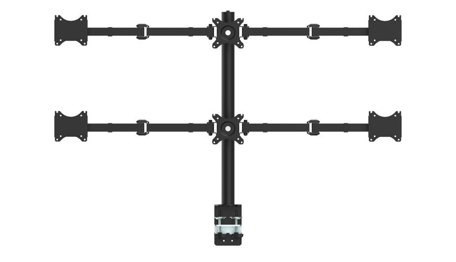 Support de moniteur de bras LCD lourd de bureau Six Support réglable 6 écrans adaptés pour 10