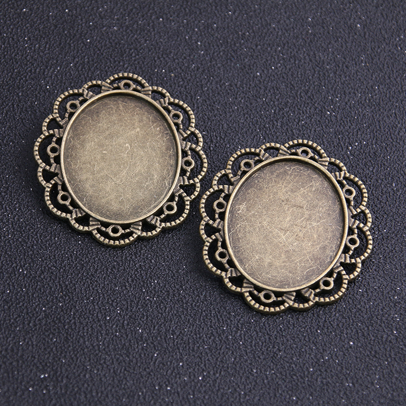 Round Cabochon Settings Antique Silver Metal Alloy 25mm  20 Pcs Findings Crafts