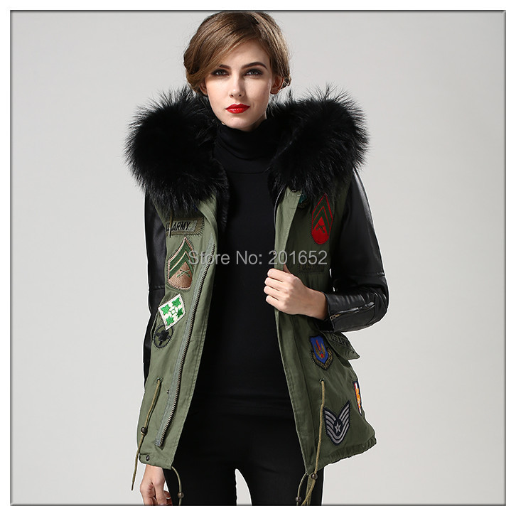 Spring & winter 2015 Hot Sell New European and American Fashion Women Fur Coat Slim Short PU Leather Jacket Women Black Mrs fur
