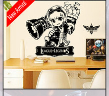 League of Legends the megling gunner Tristana and UNforgiven yasuo Game characters Wall Stickers for room decorations