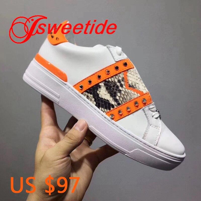 High end merk Vrouwen Ban Kleur Sneakers Ademende Walking Schoen Casual Jeugd rock EEN nieuwe generatie van innovatieve stijl-in Platte damesschoenen van Schoenen op  Groep 1