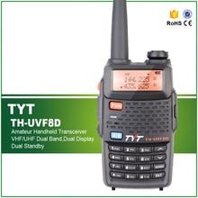 Gratis Pengiriman TYT TH-UVF8D Dual Band Dual Display Dual Standby Tingkat Militer 2 Way Radio Komunikasi Transceiver THUVF8D