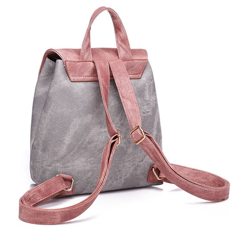 2018 New Fashion Backpack Women PU Leather Backpack For Teenage Girl Preppy Style Female School Backpacks High Quality Lady Bags in Backpacks from Luggage Bags
