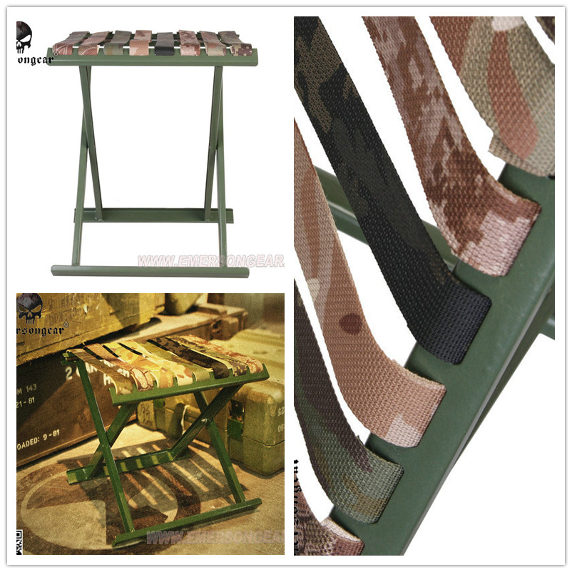 Chaise de pêche militaire tactique extérieure chaise pliante Portable barbecue en plein air tabouret pliant produit de haute qualité nouvel outil