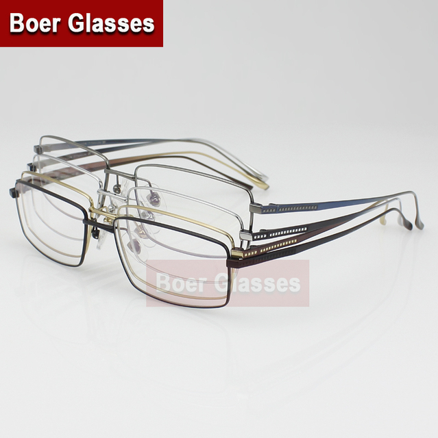 10f21c1a6dd New Full Rim Men s Eyeglasses Pure Titanium glasses prescription eyewear  RXable 3004 size 54-16-140