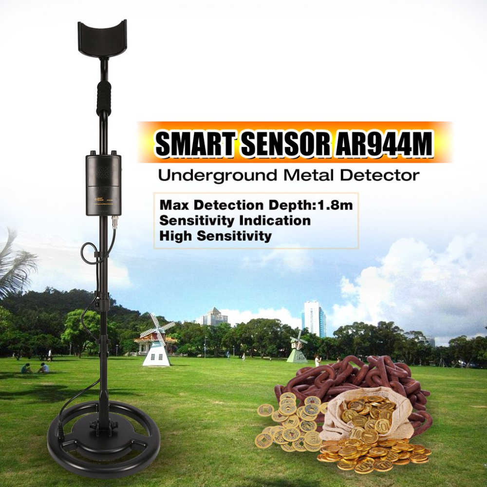 SMART SENSOR AR944M Professional Underground Metal Detector Adjustable Gold Silver Finder Treasure Tracker Seeker 1.8m Depth smart sensor ar944 underground metal detector fast shipping