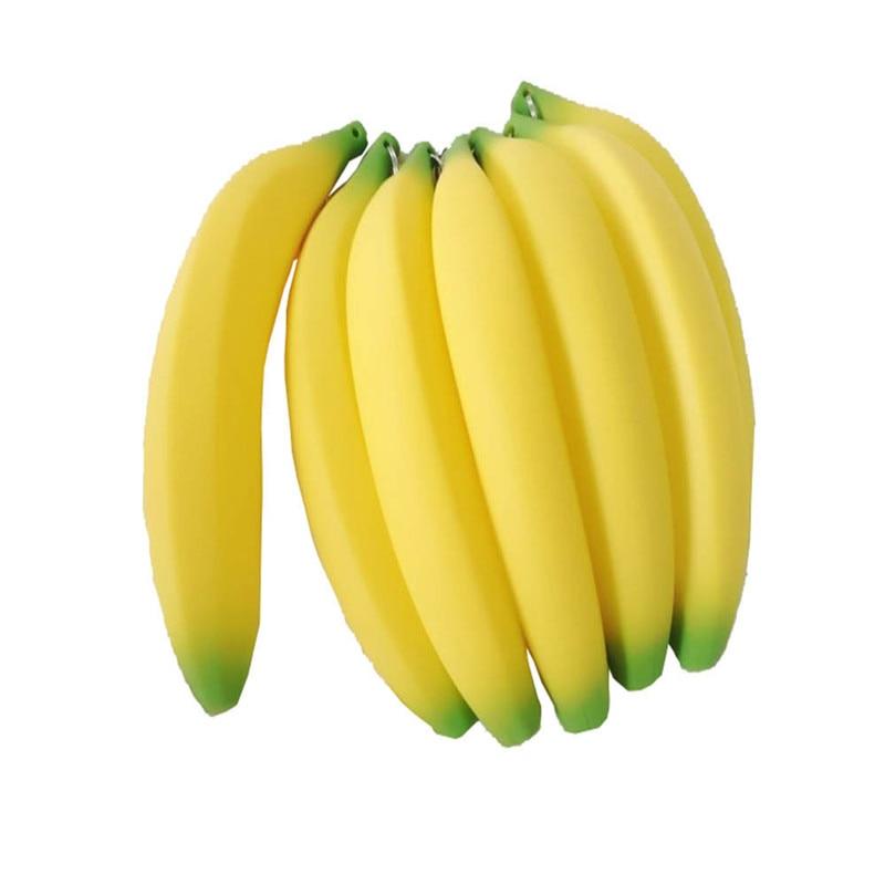 1 Pcs Novelty Silicone Portable Banana Coin Pencil Case Purse Bag Wallet Pouch Keyring Hot Sale Porte Monnaie