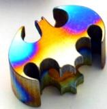 Colorful Bat Knife Titanium EDC Pendant Titanium Alloy Anodizing Process CNC Titanium Alloy Pendant Titanium Alloy New Arrival