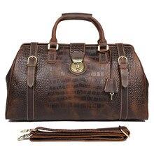 J.M.D  Top Grede 100% Genuine Leather Brown Handbags Laptop Bag Large Size Shoulder For Men 7281B