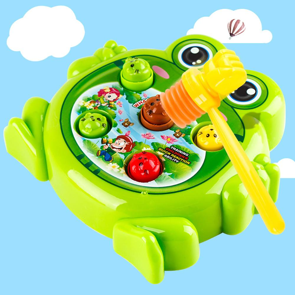 Plastic Electric Funny Frog Interactive Hit Hamster Game Machine Children Toy