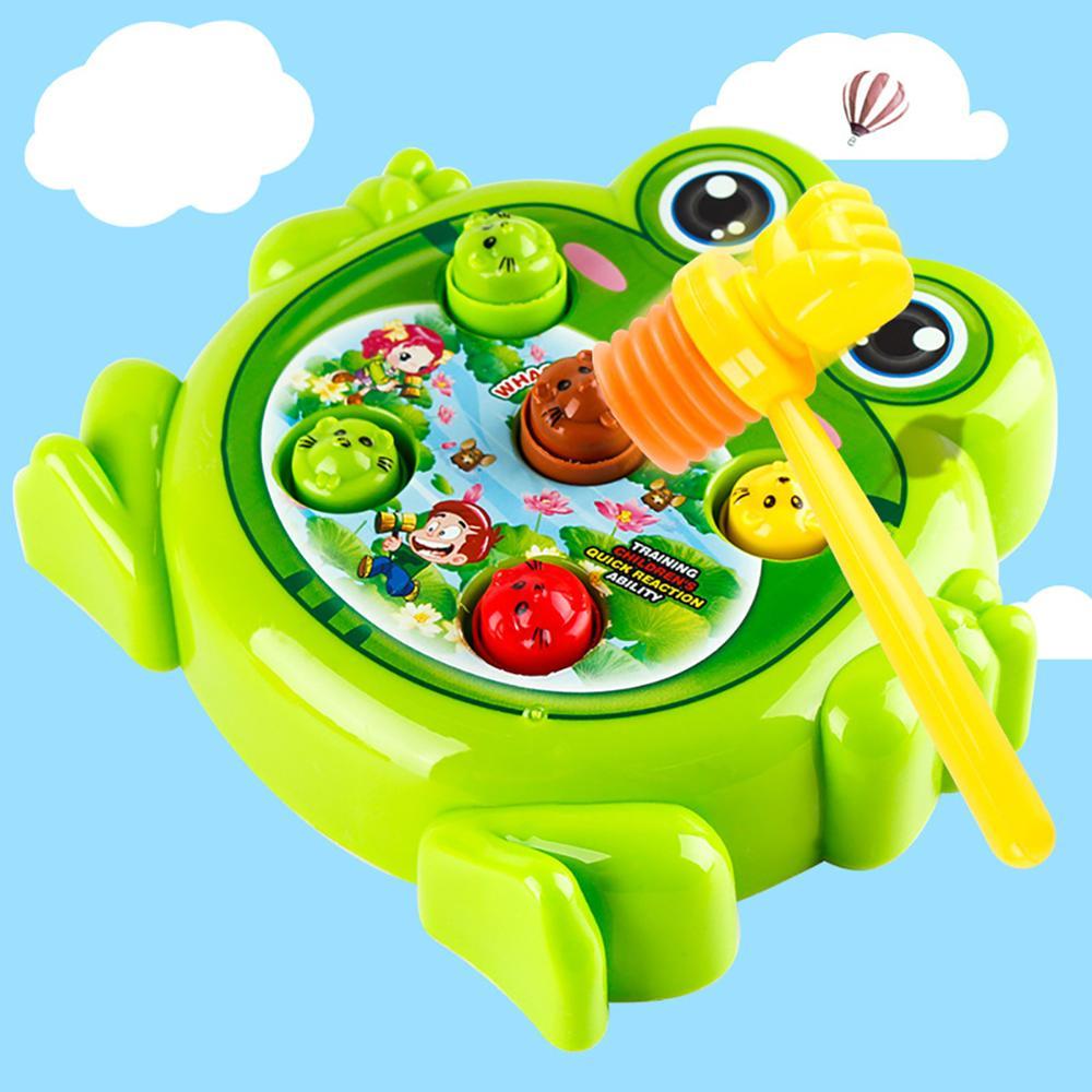 Plástico elétrico engraçado sapo interativo hit hamster máquina de jogo crianças brinquedo