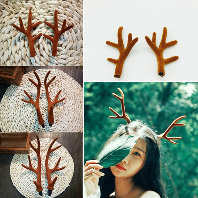 Large deer horn hair hoop easter show christmas gift party cosplay large deer horn hair hoop easter show christmas gift party cosplay headwear dance party hairbands diy handcraft hair accessories in christmas headbands from negle Image collections