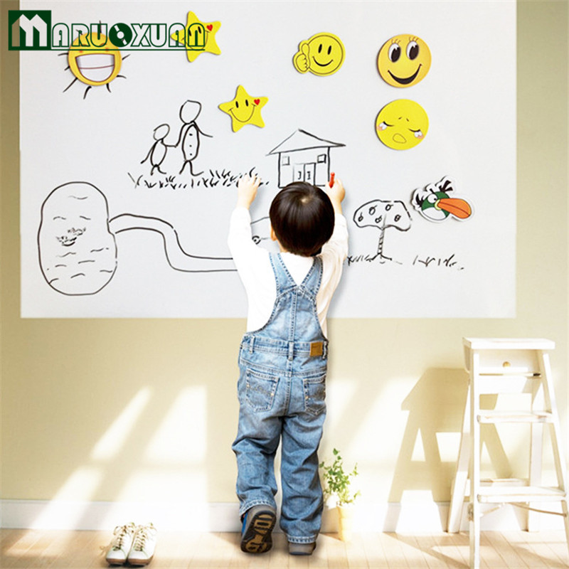 hot sale large removable cutting child student erasable teaching wall stickers affixed 45200cm whiteboard