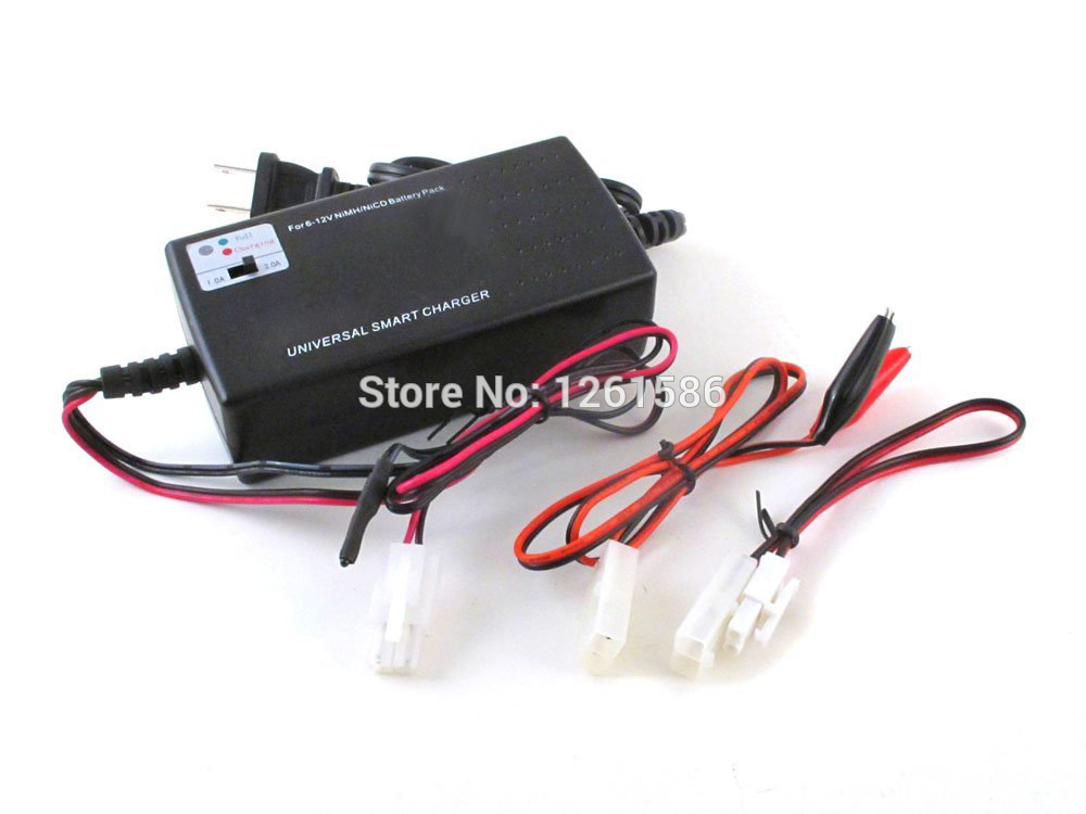 OEM Charging current Selection Universal Smart Game Charger For 6V -12V NiMH/NiCD Battery Packs(For RC or Airsoft Battery Packs)