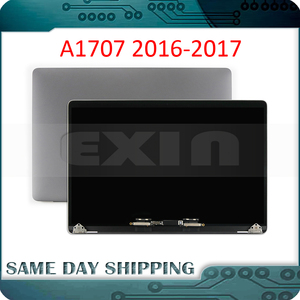 "New GREY GRAY SILVER Laptop A1707 LCD assembly for Macbook Pro Retina 15"" A1707 Display Screen Assembly 661-06376 2016 2017 Year(China)"