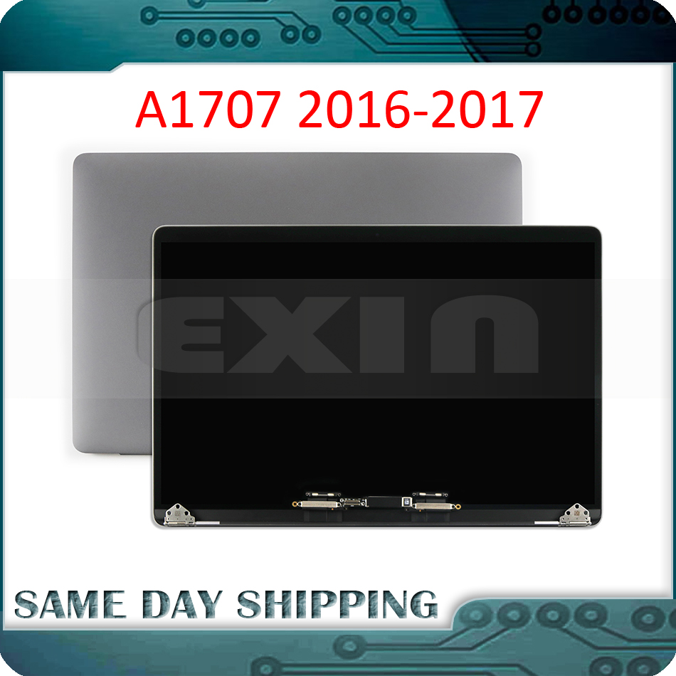 New GREY GRAY SILVER Laptop A1707 LCD assembly for Macbook Pro Retina 15 A1707 Display Screen Assembly 661 06376 2016 2017 Year