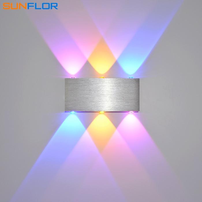 LED stenske luči 6W barvna stena Notranja stenska svetilka Moderna domača razsvetljava Površinsko nameščena stenska luč