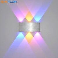 Parede Luzes LED 6 W Colorido Lâmpada de Parede Moderna Arandela Interior Home Iluminação de Superfície Montado Luz de Parede led wall light wall light wall light 6w -