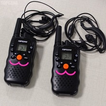 2PCS VT8 long range handy walkie talkies FRS 2 way radio comunicador GMRS 22 CH w/ VOX headphones charger 1W RF w/ led torch