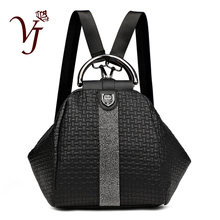 Women 3 in 1 Backpack Black Backpacks Ladies Leather Luxury