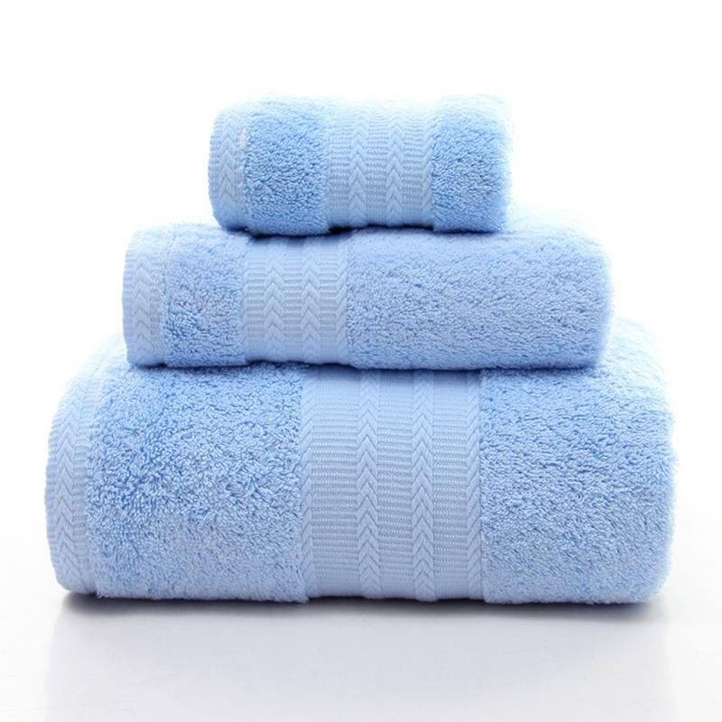 3pcs Set Bath Shower Microfiber Soft Plush Luxury Egyptian