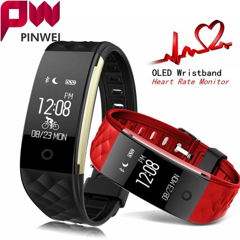 imágenes para PINWEI S2 deporte Inteligente Banda reloj de Pulsera de la Pulsera Smartband IP67 Impermeable Bluetooth Monitor de Ritmo Cardíaco Para el iphone Android