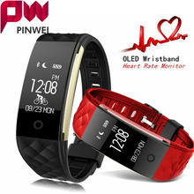 PINWEI S2 sport Smart Band wrist Bracelet Wristband Heart Rate Monitor IP67 Waterproof Bluetooth Smartband For iphone Android