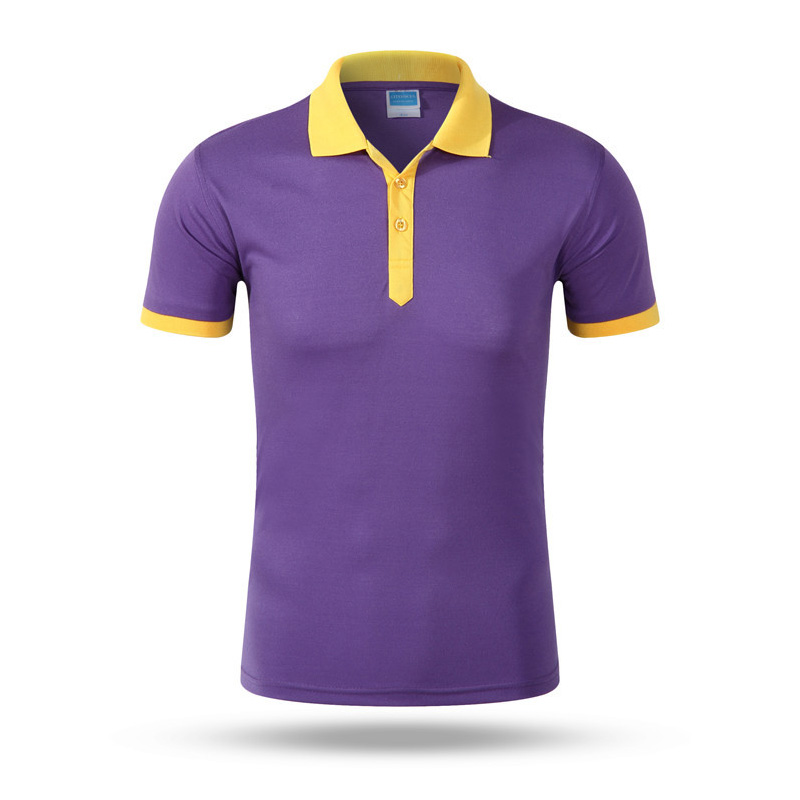 Solid Polo Shirt Cotton Summer Work Work Clothing
