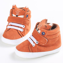 Delebao Lovely Fox  Animal Pattern Lace-up Newborn Baby Girl & Boy Shoes For 0-18 Months Wholesale