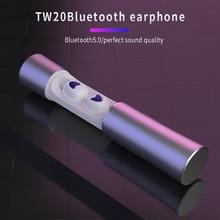 Wireless Bluetooth Earphone TWS Sport In Ear Headphones Bluetooth 5.0 Headset Noise Canceling Headphone with Microphone Silver цена и фото