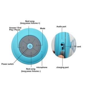 Image 3 - Su geçirmez Bluetooth LED duş hoparlör FM radyo TF kart okuyucu kontrol düğmeleri hoparlör güçlü vantuz açık