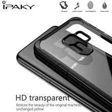 IPAKY Transparent Case For Samsung Galaxy S9 Plus Case Soft TPU+PC Back Cover Armor Shockproof Case For Samsung Galaxy S9 Coque protective tpu pc back case w stand for samsung galaxy s4 i9500 red transparent