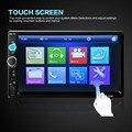 """2 Din Автомобильный Видео-Плеер DVD 7 """"TFT Сенсорный Экран Bluetooth Радио Аудио Стерео Mp5-плеер FM/USB/SD/MMC Авто Estereos RemoteControl"""