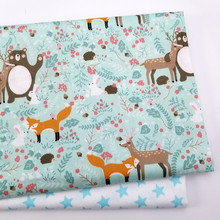 Baby Cotton Twill fabric Printed Cloth for DIY sewing patchwork cloth sheet