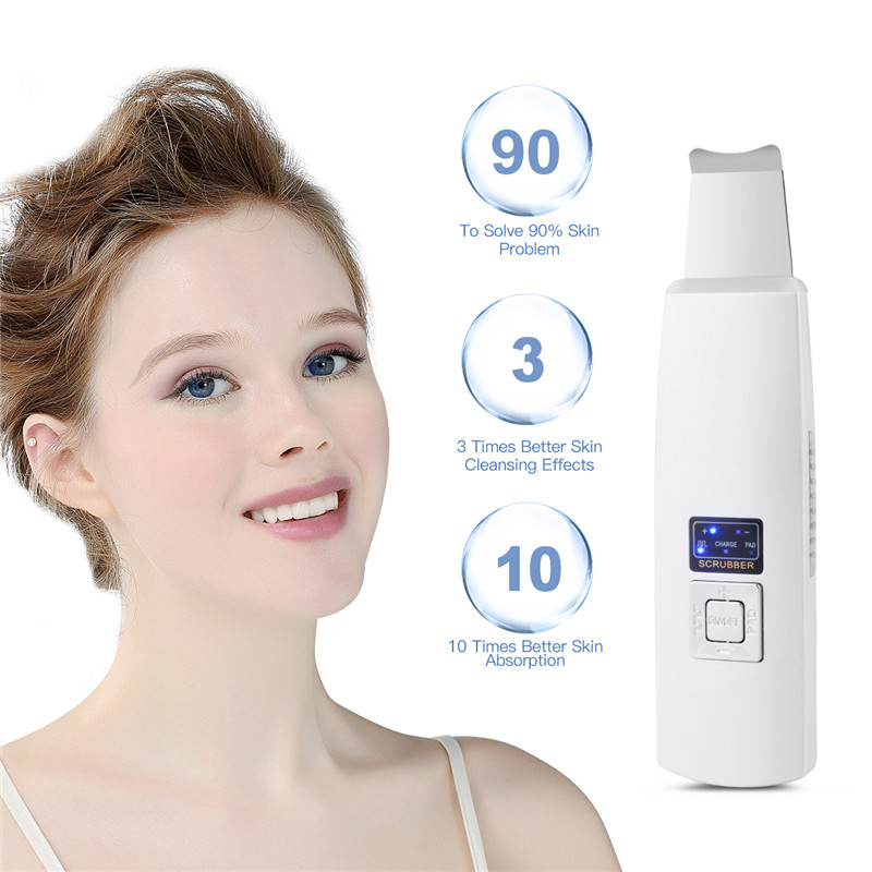 Ultrasonic Deep Face Cleaning Machine Skin Scrubber Exfoliating Pore Dirt Blackhead Removal Tools Powered Facial care Massager47