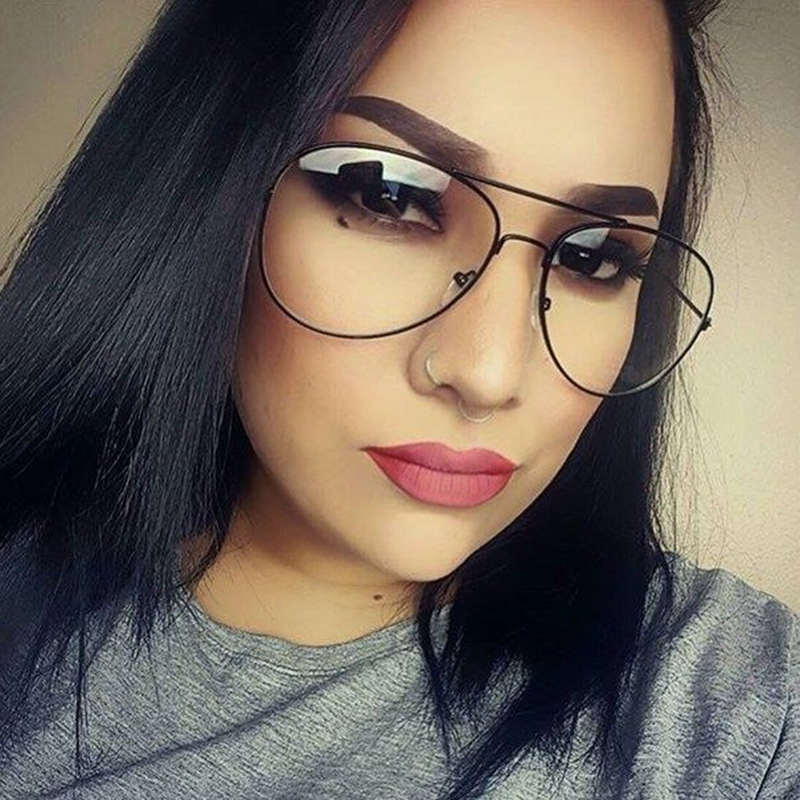 c3a5584f67b Detail Feedback Questions about Vintage Unisex Eyeglasses Frames Clear Lens  Glasses Retro Reading Glass UV Protection Clear Lens Computer Women Eyewear  ...