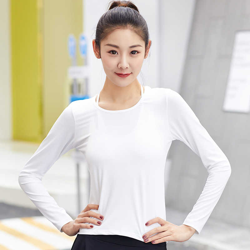 badf5a5168d9c ... HEAL ORANGE Yoga Long Sleeve T-Shirt Sport Women Sportswear Dry Fit  Women Running Shirts