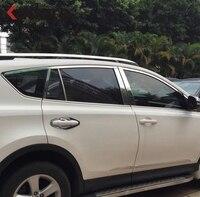 Для Toyota RAV4 RAV 4 2013 2014 2015 Нержавеющаясталь окна автомобиля отделка багетная рама крышка Стикеры внешние аксессуары