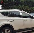 Для Toyota RAV4 RAV 4 2013 2014 2015 нержавеющая сталь отделка окна автомобиля рамка формовочная крышка наклейка внешние аксессуары